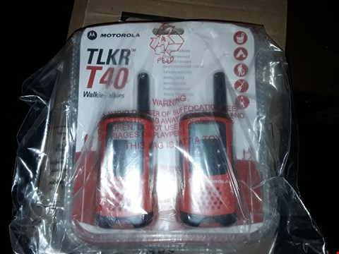 Lot 1483 GRADE 1 MOTOROLA TOUR T40 6K RANGE 2 WAY WALKI TALKIES  RRP £45