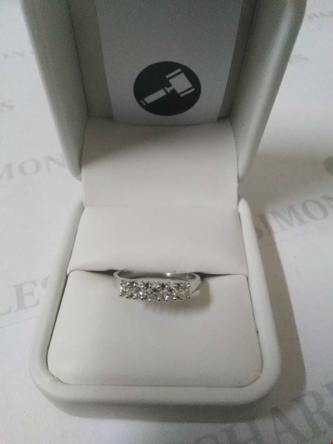 Lot 16 18CT WHITE GOLD HALF ETERNITY RING SET WITH DIAMONDS WEIGHING +0.52CT RRP £1485.00