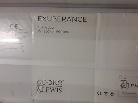 Lot 72 COOKE & LEWIS EXUBERANCE SLIDING DOOR 1200 X 1900 RRP £152