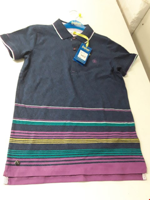 Lot 965 BRAND NEW BAKER BY TED BAKER 94 MULTI STRIPE POLO SHIRT AGES 9-10