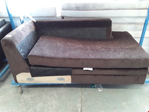Lot 2192 DESIGNER BROWN FABRIC CHAISE SECTION