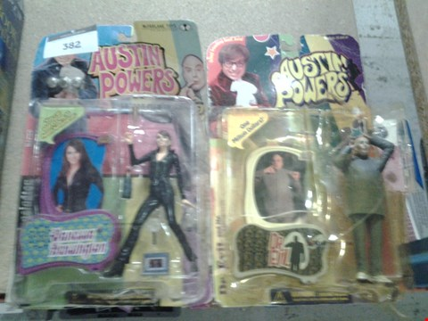 Lot 382 2 ASSORTED AUSTIN POWERS FIGURES TO INCLUDE; VANESSA KENSINGTON AND DR EVIL