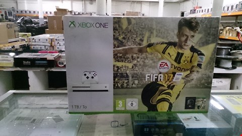 Lot 1401 BOXED XBOX ONE S 1TB CONSOLE WITH FIFA 17. RRP £389.00
