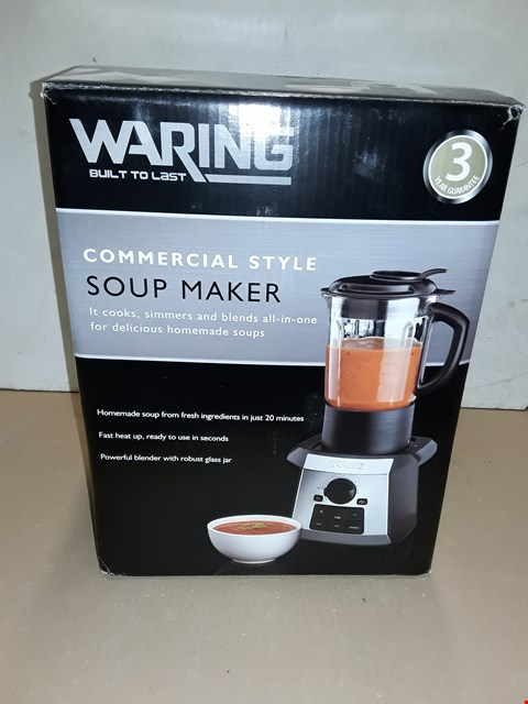 Lot 8004 BOXED WARING COMMERCIAL STYLE SOUP MAKER