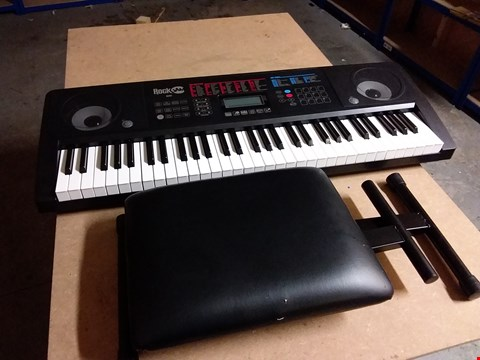 Lot 938 ROCKJAM RJ761-SK KEY ELECTRONIC INTERACTIVE TEACHING PIANO KEYBOARD