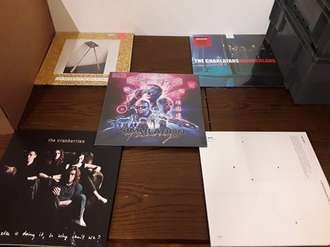 Lot 1024 LOT OF 10 ASSORTED VINYL RECORDS TO INCLUDE; IDLES, THE CHARLATANS, THE CRANBERRIES, WOLF ALICE, MUSE ETC