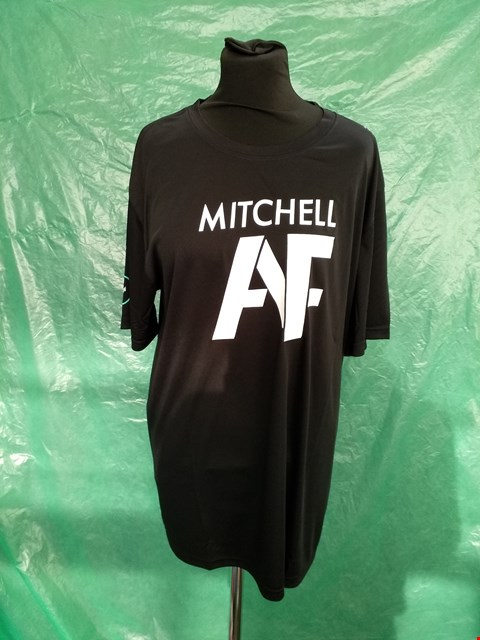 Lot 4134 TOTUM BLACK MITCHELL AF CHARACTER DESIGN T-SHIRT - SIZE XL
