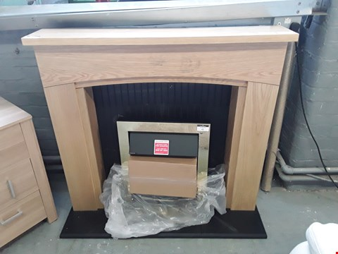 Lot 41 DESIGNER OAK EFFECT FIRE SURROUND RRP £198.00