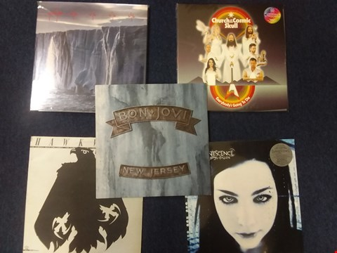 Lot 1006 10 ASSORTED VINYL RECORDS TO INCLUDE; PEARL JAM, BON JOVI, EVANESCENCE ETC