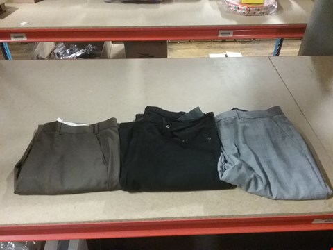 Lot 1326 LOT OF 8 BOXES CONTAINING APPROXIMATLEY 160 ASSORTED CLOTHING ITEMS TO INCLUDE SKOPES SECURITY POCKET BROWN SUIT TROUSER, WILLIAMS & BROWN GREY SUIT TROUSER AND RALPH LAUREN BLACK JEANS