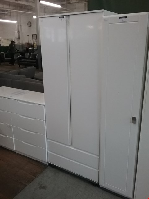 Lot 10 WHITE 2DR/2DRW WARDROBE RRP £200