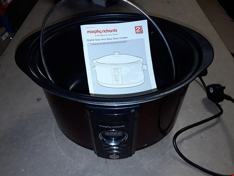 Lot 854 MORPHY RICHARDS ACCENTS DIGITAL SEAR AND STEW SLOW COOKER 6.5L 461005
