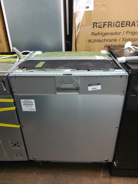 Lot 7026 BOSCH SMV68MD02G SERIE 6 A++ FULLY INTEGRATED DISHWASHER
