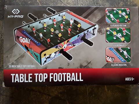 Lot 89 LOT OF 2 ITEMS TO INCLUDE A SCRAMBLE BUG BEETLE RIDE ON AND 20INCH TABLE TOP FOOTBALL RRP £77