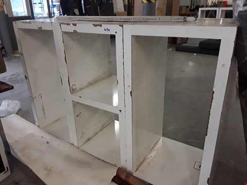 Lot 1034 THREE WHITE OPEN STORAGE/DIDPLAY UNITS