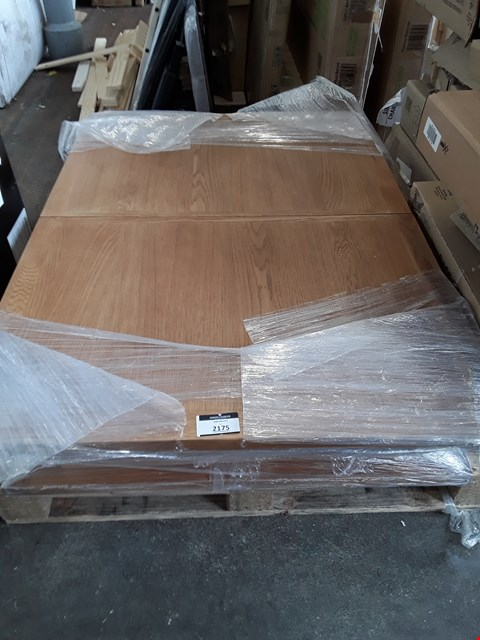 Lot 2175 LOT OF 2 SMALL REAL WOOD EXTENDING DINING TABLE TOPS