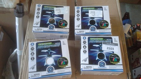 Lot 2103 A LOT OF 4 BOXES OF SKYLIGHTER HOVERSPHERE LIGHTBUP UFO