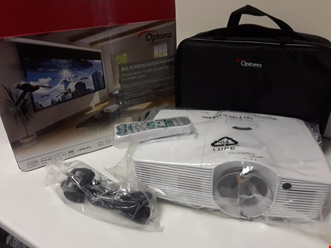 Lot 4553 BOXED OPTOMA FULL 3D PROJECTOR GT1080e DLP