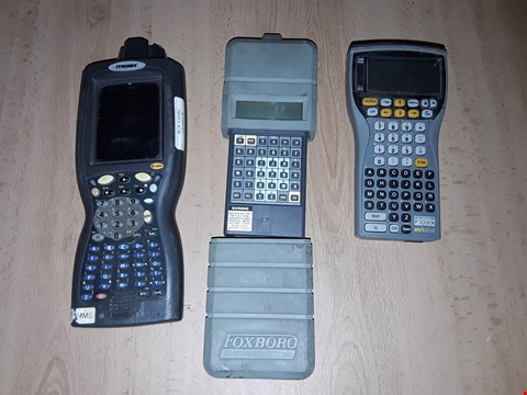 Lot 8137 LOT OF 3 ASSORTED HANDHELD TERMINALS TO INCLUDE FOXBORO HHT-AAEPNB-E, PSION WORK ABOUT AND IRONIC IX100X