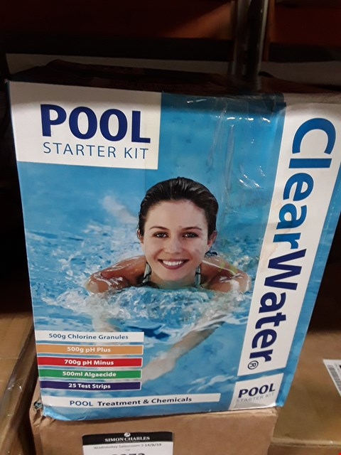 Lot 3269 BRAND NEW CLEAR WATER POOL STARTER KIT RRP £37.00