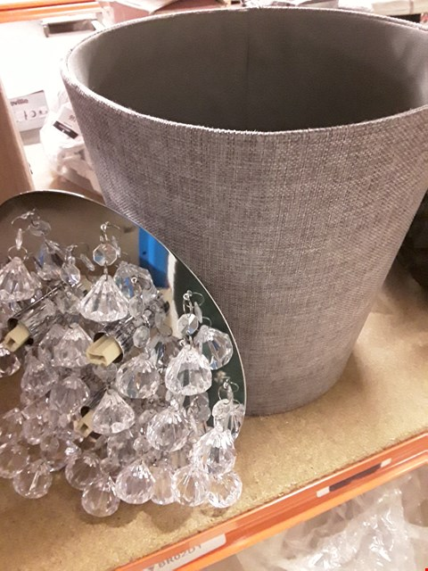 Lot 168 LOT OF 2 ITEMS TO INCLUDE A CELING LIGHT & A GREY PAPER BIN