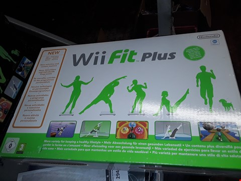 Lot 293 BOXED WII FIT PLUS + WII BALANCE BOARD