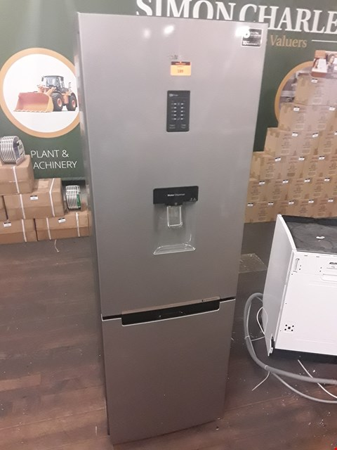 Lot 189 SAMSUNG RB31FDRNDSAEU SILVER NO FROST FRIDGE FREEZER WITH WATER DISPENSER  RRP £799