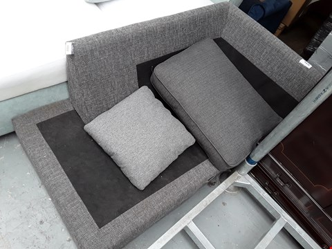 Lot 6322 GREY FABRIC CHAISE SOFA SECTION