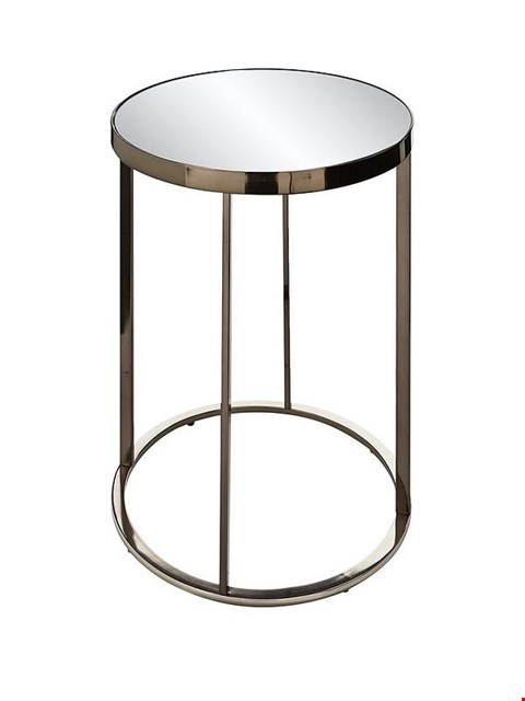 Lot 6021 BOXED GABRIELLA MIRRORED LAMP TABLE  RRP £85.00