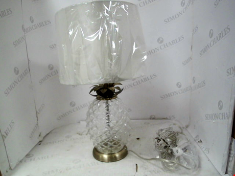 Lot 13037 ACANDI GLASS PINEAPPLE TABLE LAMP RRP £45.00