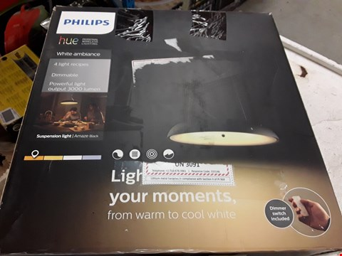 Lot 3063 PHILIPS HUE PERSONAL WIRELESS LIGHTING WHITE AMBIENCE 4 LIGHT RECIPES