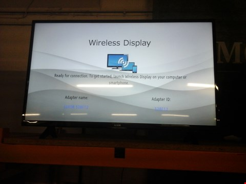 """Lot 1068 LUXOR 43"""" FREEVIEW LED SMART TV MODEL NO LUX0143003 RRP £419"""