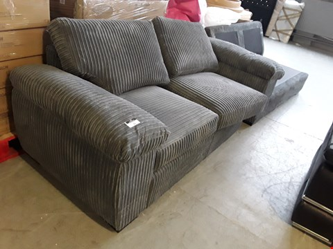 Lot 31 TWO DESIGNER GREY JUMBO CORD SOFA SECTIONS
