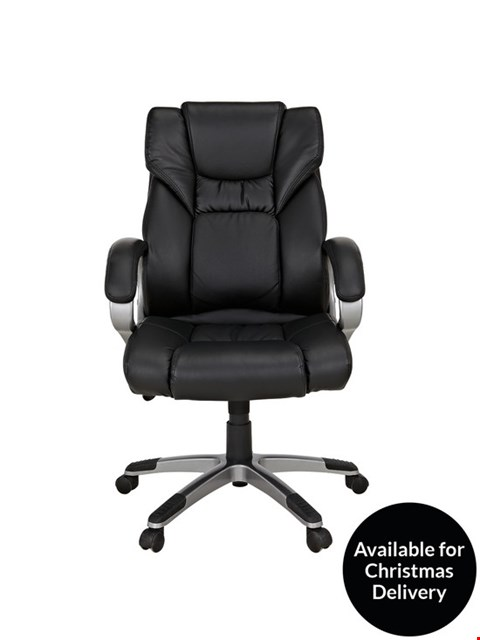 Lot 3095 BOXED PU DIRECTORS CHAIR - BLACK  RRP £139.00