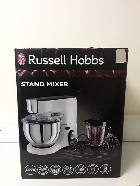 Lot 6096 BOXED RUSSELL HOBBS 1000W STAND MIXER