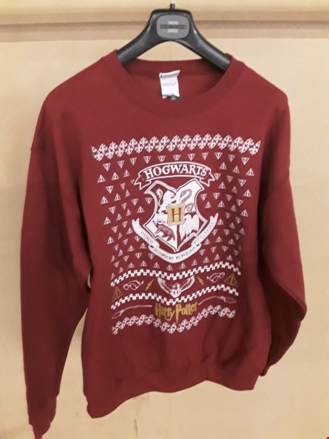 Lot 5021 BRAND NEW BAGGED HARRY POTTER HOGWARTS BURGUNDY LARGE CHRISTMAS JUMPER