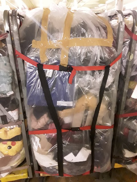 Lot 246 CAGE OF UNPROCESSED ADULT DESIGNER CLOTHING (CAGE NOT INCLUDED)