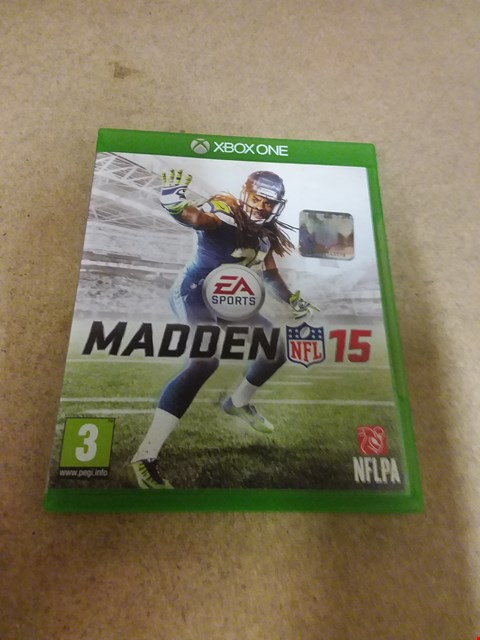 Lot 8232 EA SPORTS MADDEN 15 XBOX ONE GAME