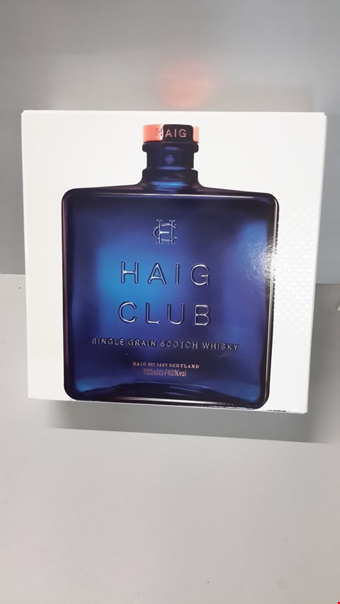 Lot 8 HAIG CLUB SINGLE GRAIN WHISKY 700ML RRP £45