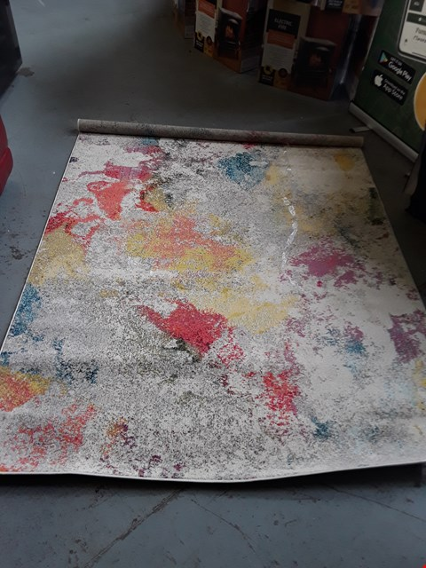 Lot 110 DESIGNER CELESTIAL COLLECTION ABSTRACT DESIGN MULTICOLOURED RUG APPROXIMATELY 160×270