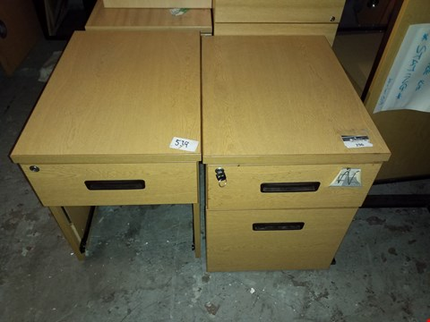 Lot 17069 LOT OF 2 ASSORTED OFFICE DRAWERS