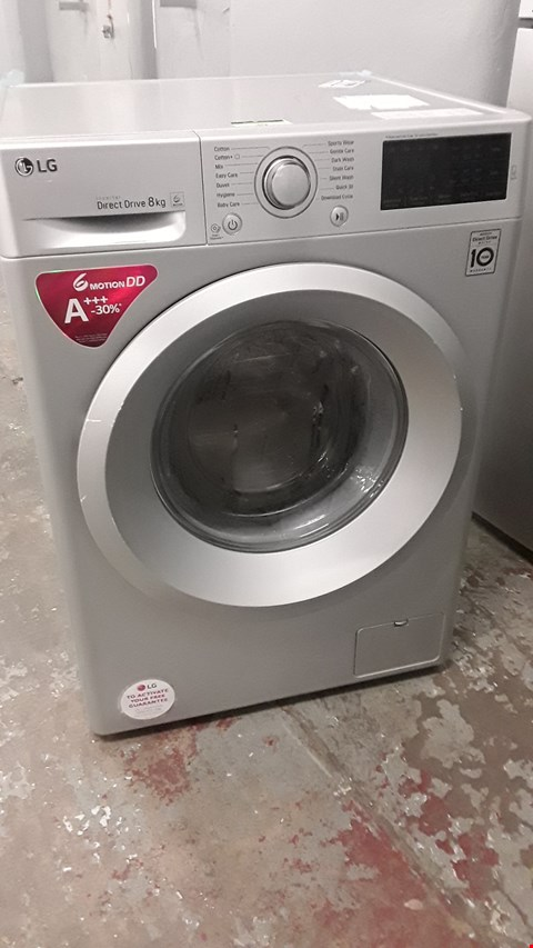 Lot 39 LG SILVER DIRECT DRIVE 8KG WASHING MACHINE F4J5TN4L RRP £519.99