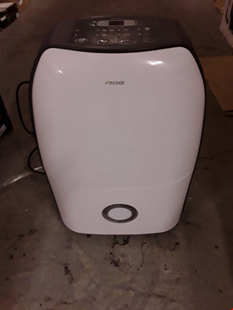 Lot 599 ECOAIR DEHUMIDIFIER