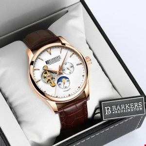 Lot 1018 BRAND NEW BOXED BARKERS OF KENSINGTON AUTOMATIC ROSE LIMITED EDITION MODEL NO. 6826 WRIST WATCH WITH 5 YEARS MANUFACTURERS WARRANTY RRP £525