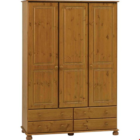 Lot 7077 BOXED GRADE 1 RICHMOND THREE DOOR FOUR DRAWER WARDROBE (3 BOXES) RRP £497.00