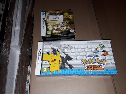 Lot 9089 POKEMON HEARTGOLD VERSION AND POKEMON TYPING ADVENTURE - NINTENDO DS