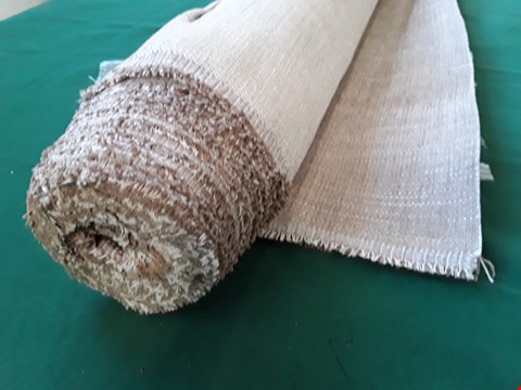 Lot 2081 ROLL OF NATURAL WEAVE FIRE RETARDANT MATERIAL APPROXIMATELY 140cm × SIZE UNSPECIFIED