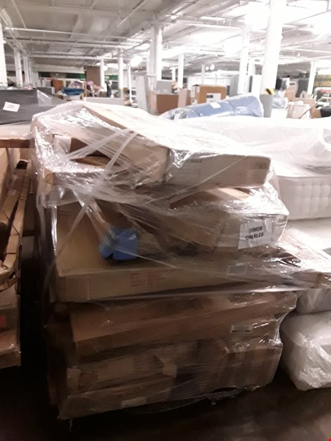 Lot 7215 PALLET OF ASSORTED FLAT PACK FURNITURE PARTS