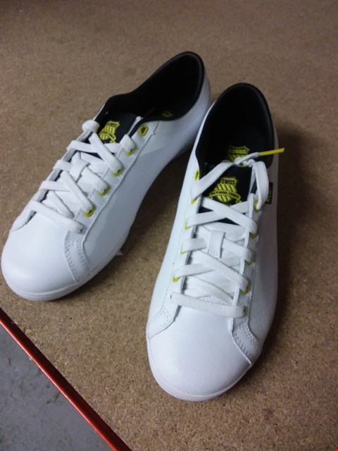 Lot 2087 LOT OF 5 PAIRS OF BRAND NEW K-SWISS ALL COURT TENNIS TRAINERS AND GOWMET TRAINERS RRP £100