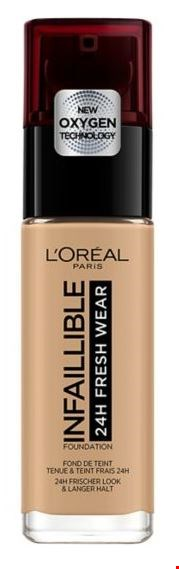 Lot 2856 BRAND NEW L'OREAL PARIS INFALLIBLE 24HR FRESHWEAR FOUNDATION DARK AMBER RRP £10.99
